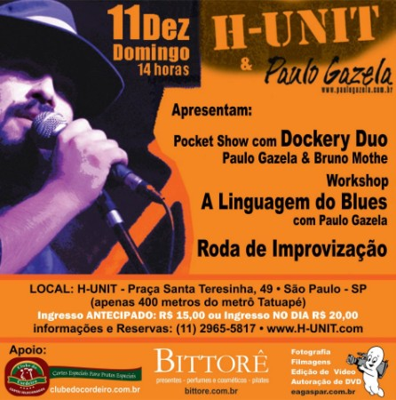 WORKSHOP Discutindo a linguagem do Blues e SHOW com DOCKERY DUO!