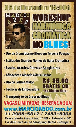 WORKSHOP SOBRE HARMÔNICA CROMÁTICA NO BLUES